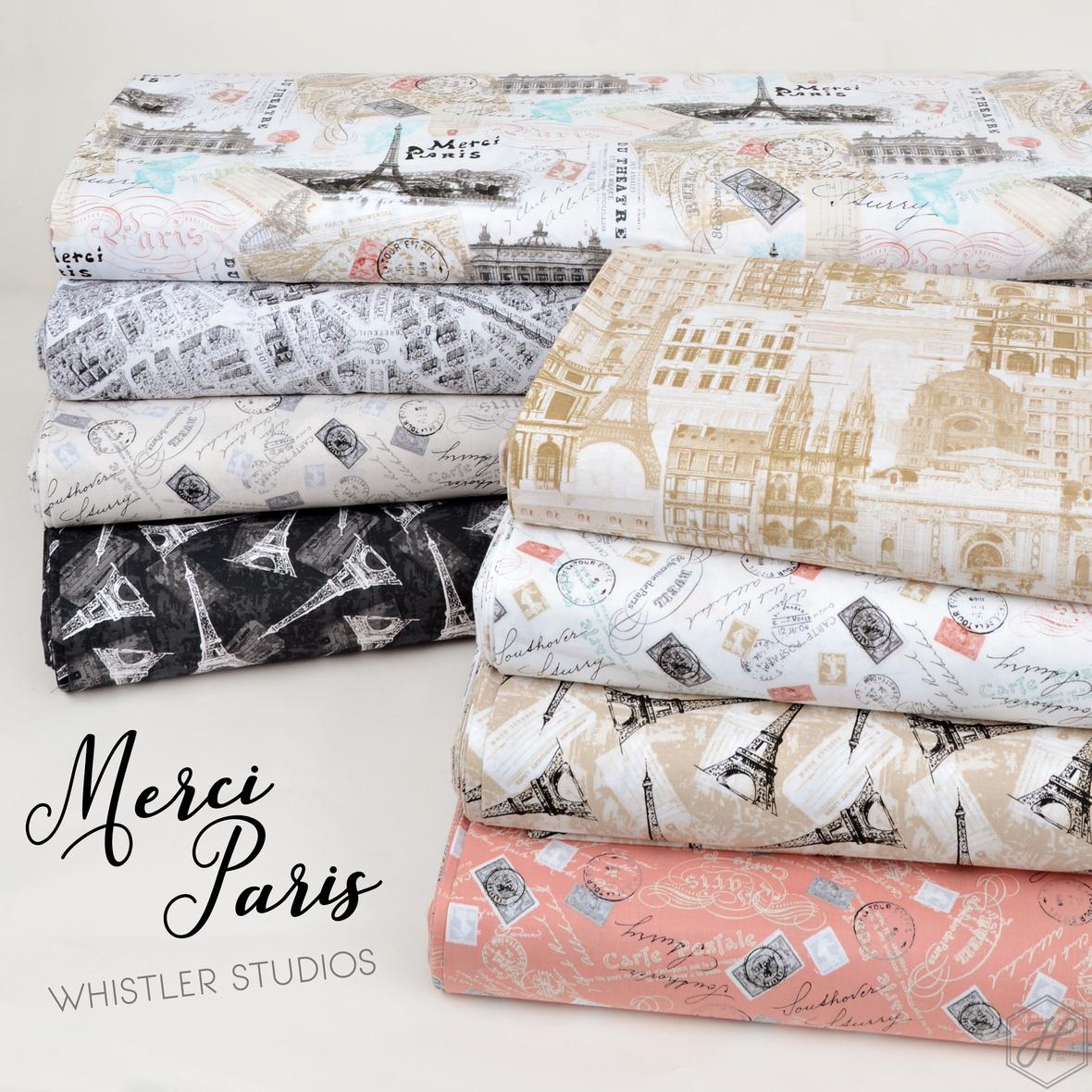 Merci Paris fabric collection Windham fabrics at Hawthorne Supply Co