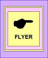 POINTING HAND   FLYER  - Easter-Early Spring