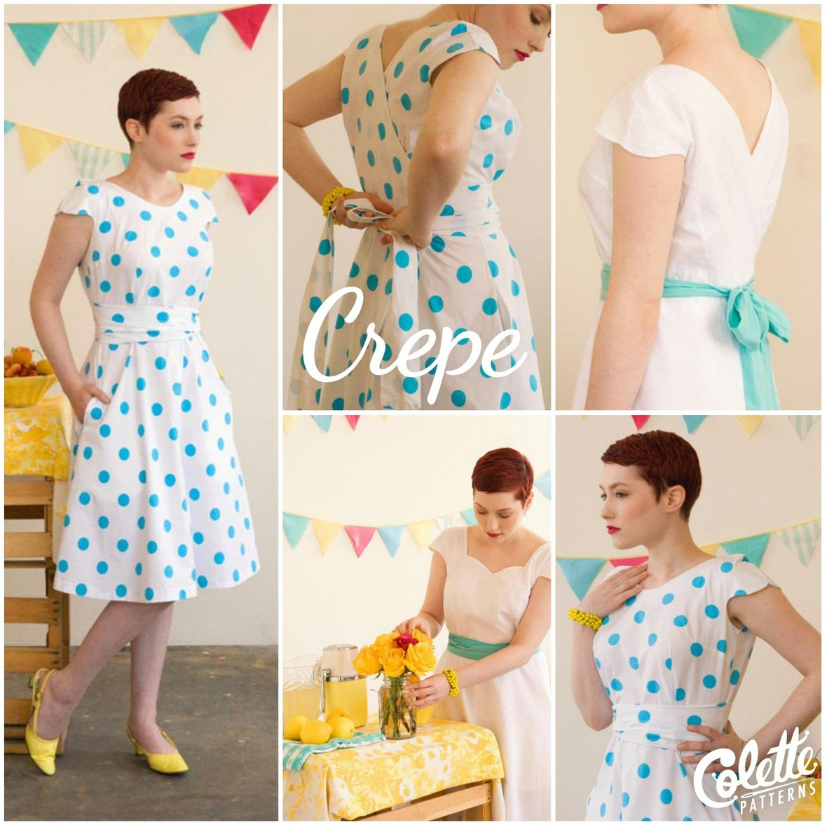colette patterns crepe dress sewing pattern