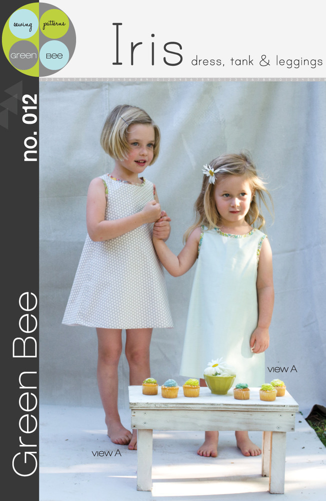 green bee design iris dress tank and leggings sewing pattern