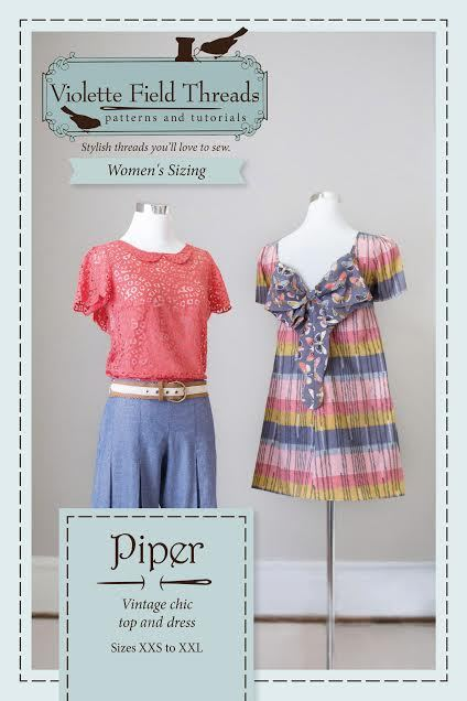violette field threads piper misses dress and blouse sewing pattern