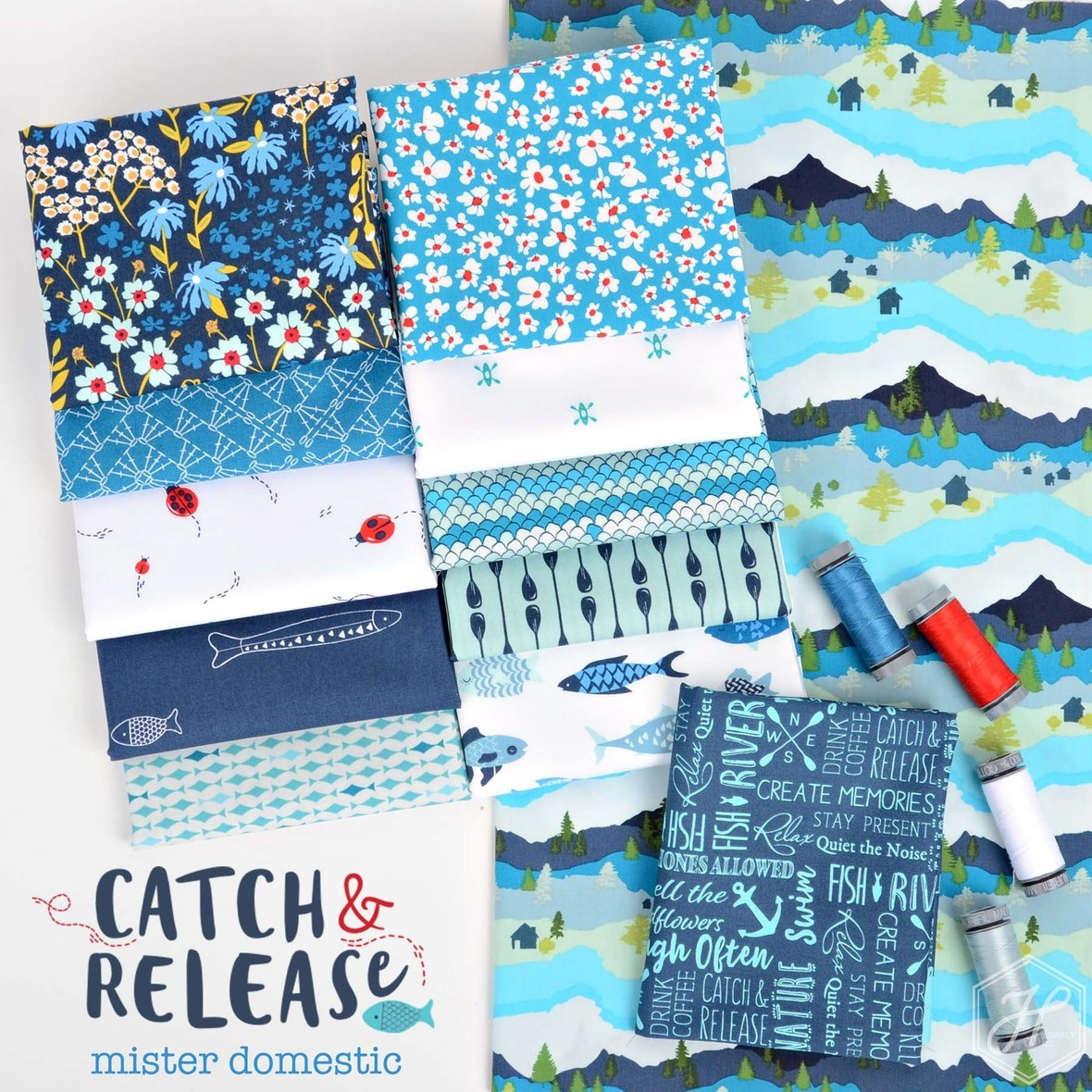Catch and Release Fabric Poster Mister Domestic for Art Gallery at Hawthorne Supply Co