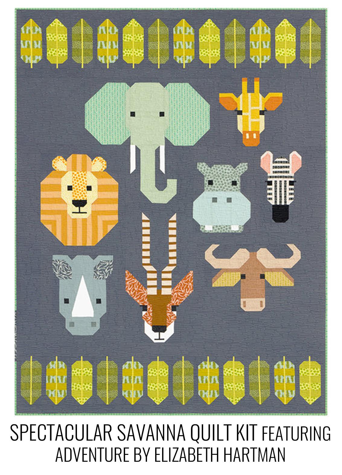Spectacular savanna quilt kit