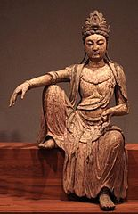 Kwan-yin bodhisattva Northern Sung dynasty China c. 1025 wood Honolulu Academy of Arts