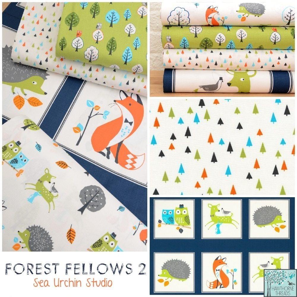 Forest Fellows Fabric Poster