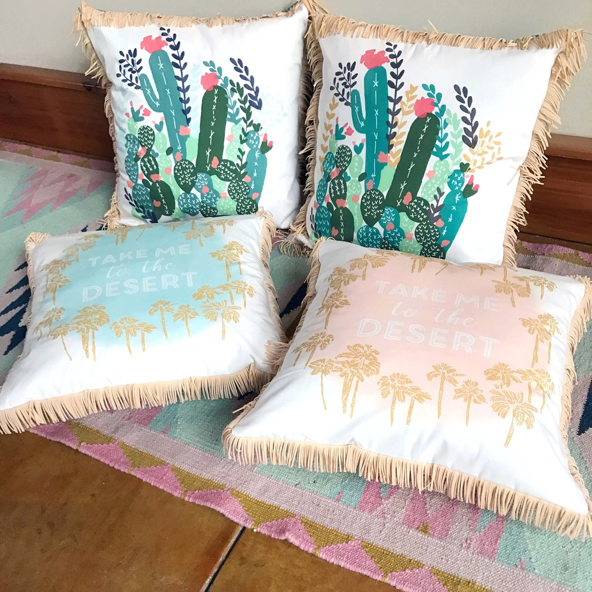 Palm Springs Fabric Pillows