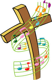 cross with musical notes