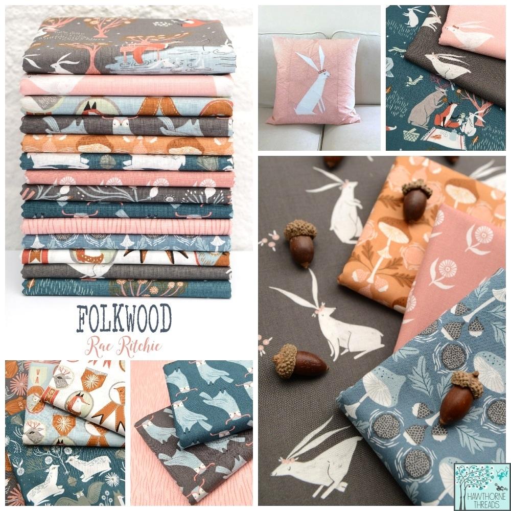 Folkwood Fabric Poster