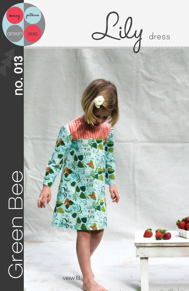 green bee design lily dress sewing pattern