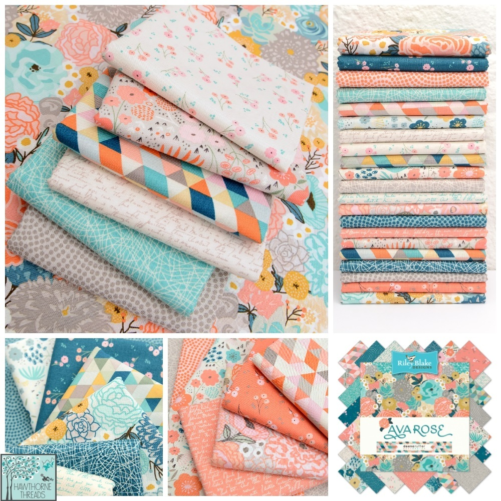Ava Rose Fabric Poster
