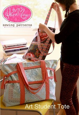 anna maria horner art student tote sewing pattern