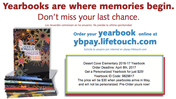 Last Chance Yearbook Pre-Order