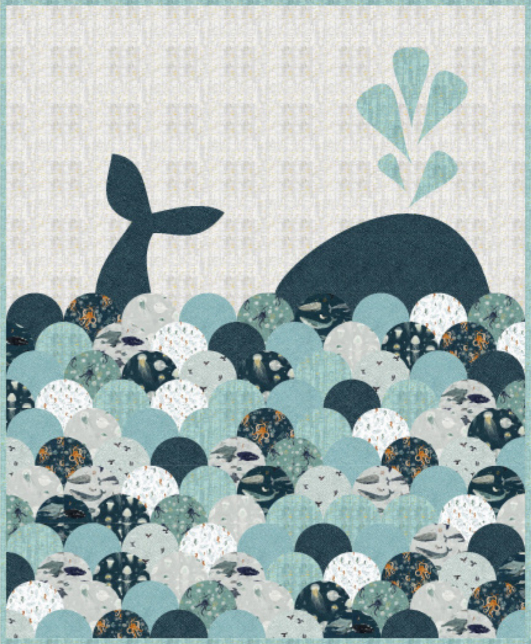 Free Whale Sighting Quilt Pattern uses uncorked