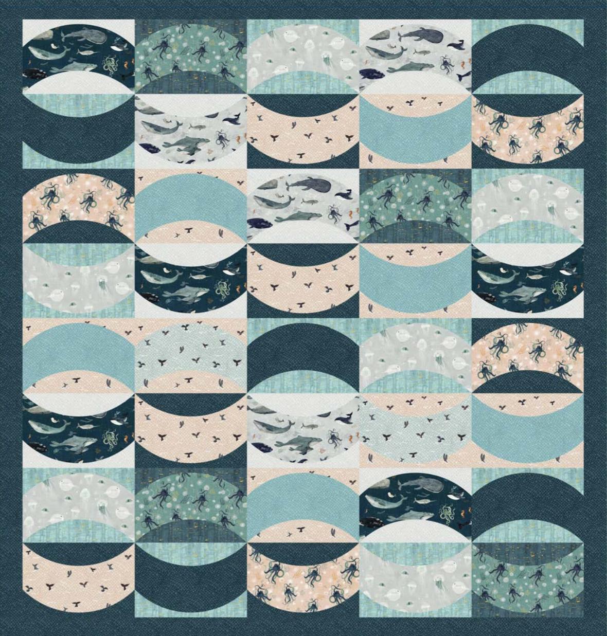 Free Stormy Seas Quilt Pattern big cut friendly