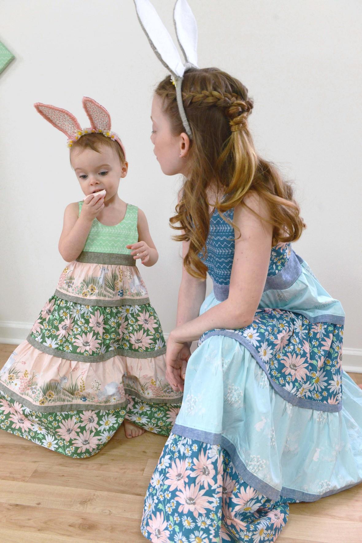 Lamb Fabric Easter Bunny Ears