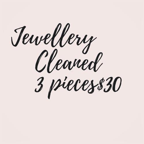 jewellery cleaned 18.6.20