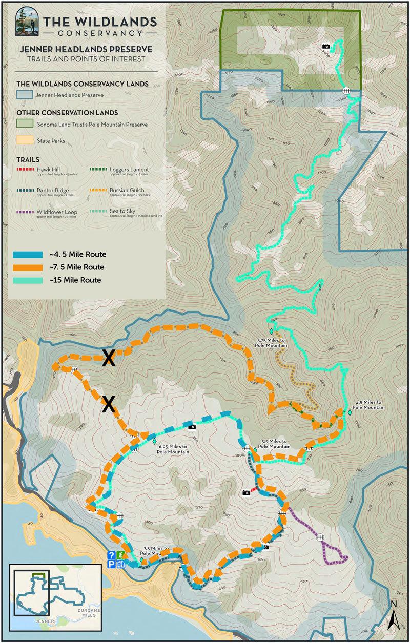 Jenner headlands preserve map newsletter