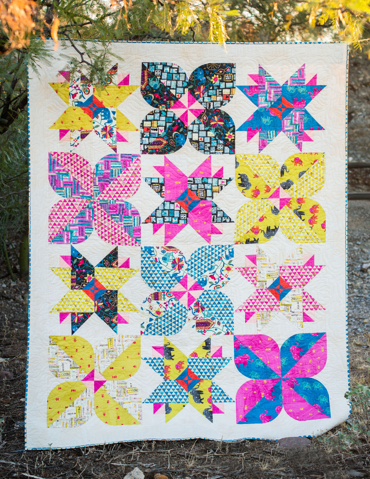 Mod Blossom Quilt pattern available from colorwerx