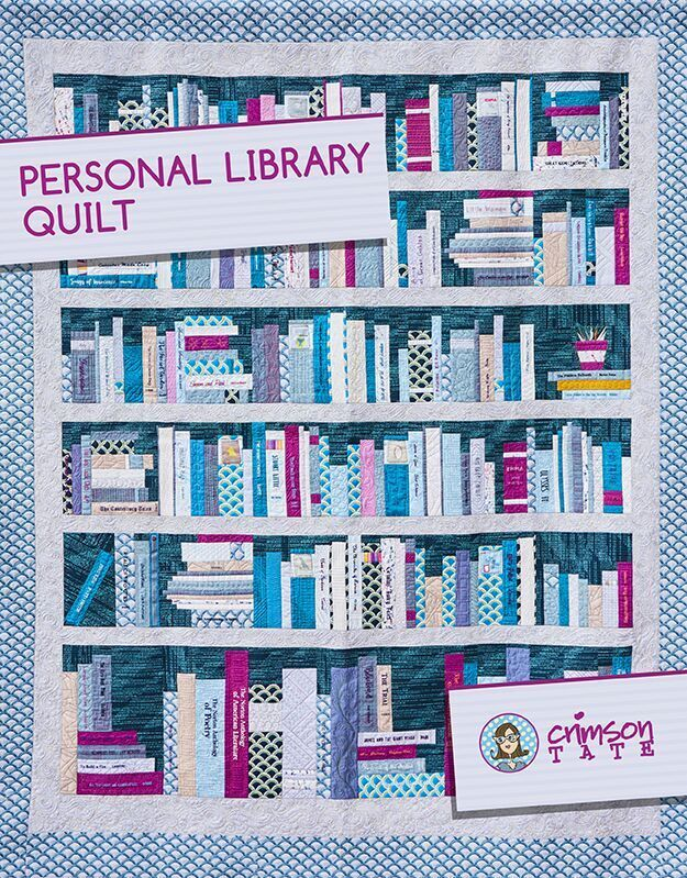 heather givans personal library quilt sewing pattern