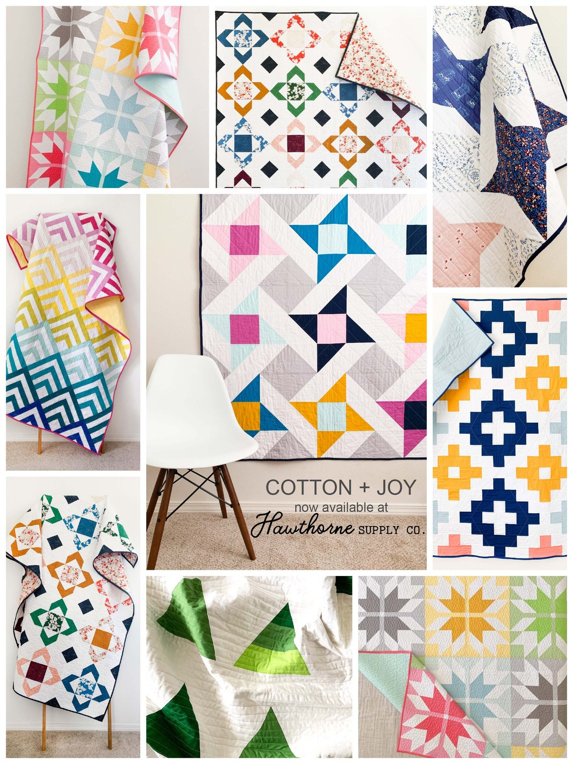 Cotton and Joy Quilt Patterns at Hawthorne Supply Co