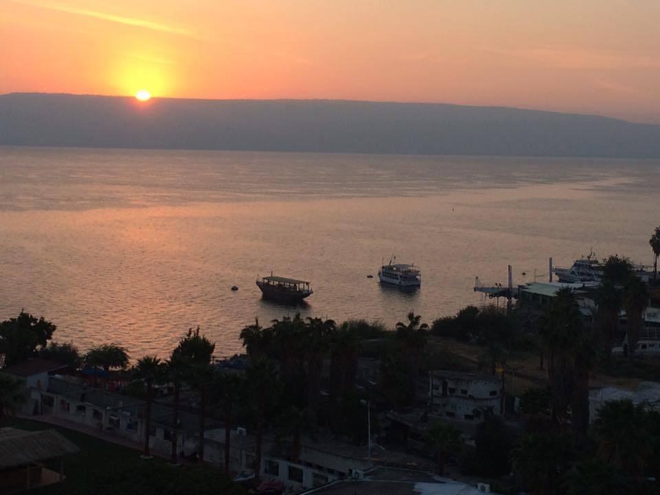 dawn sea of galilee