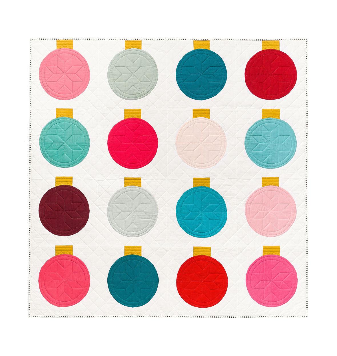 Retro Ornaments Cover Quilt