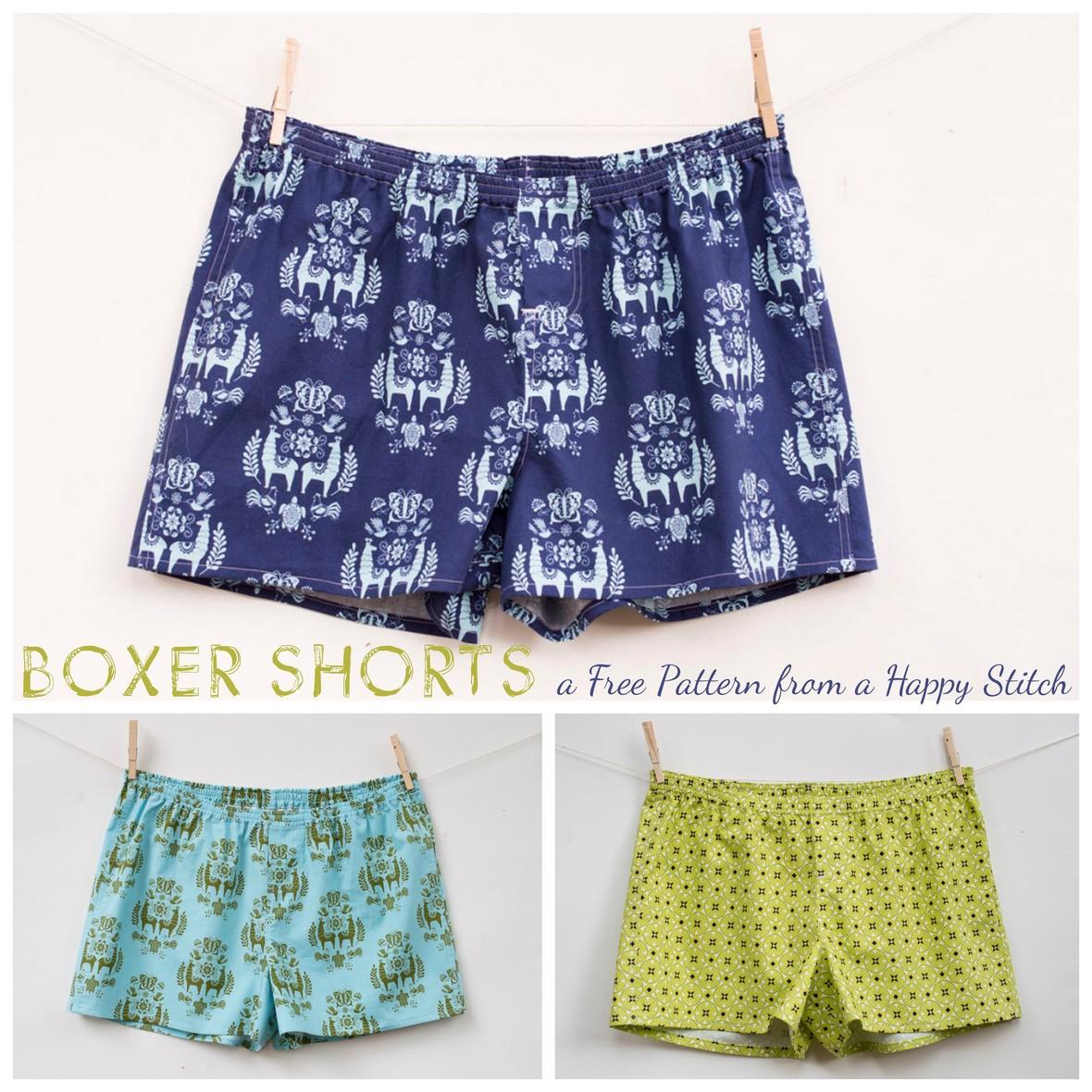 Justaposey Boxer Shorts Free Pattern