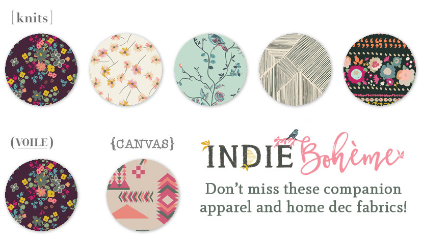 Indie Boheme companion fabrics