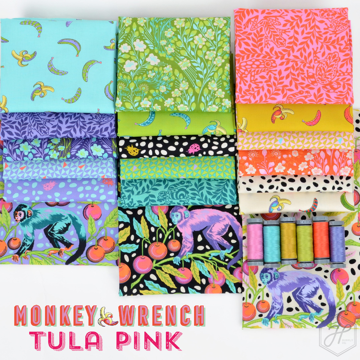 Tula Pink Monkey Wrench Fabric at Hawthorne Supply Co