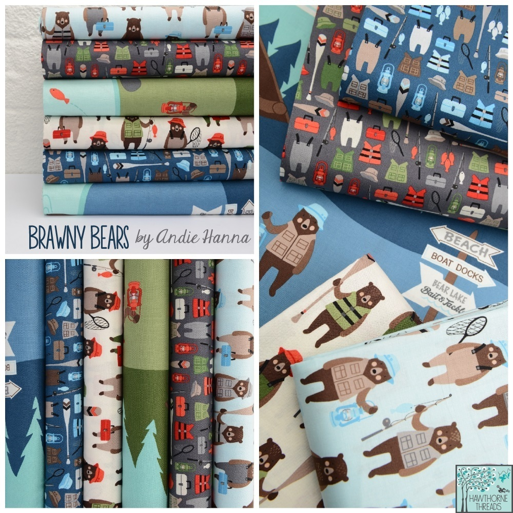 Brawny Bears Fabric Poster