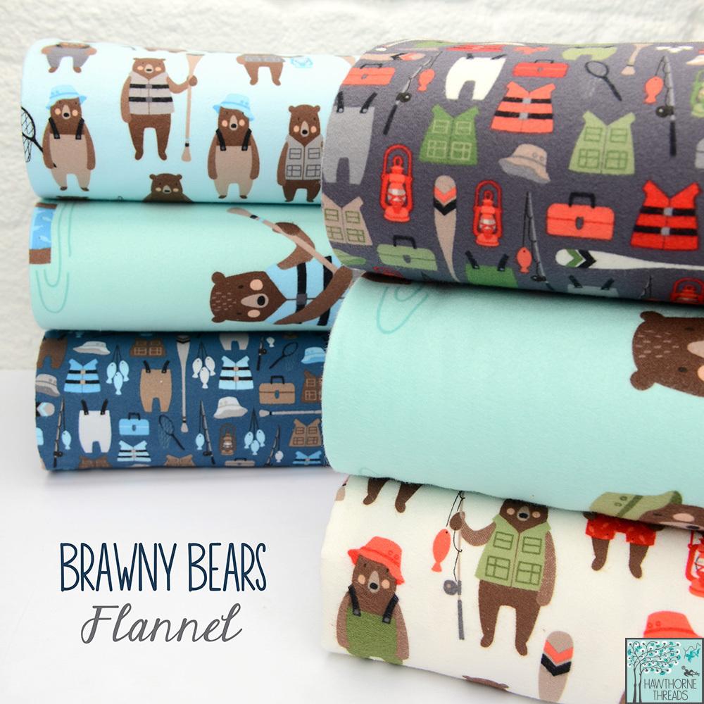 Brawny Bears Flannel Fabric Poster