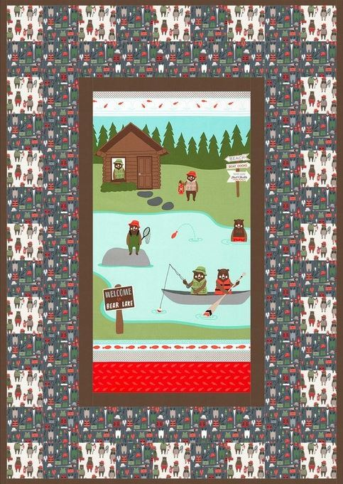 cabins and Canoes-free quilt pattern- robert kaufman website