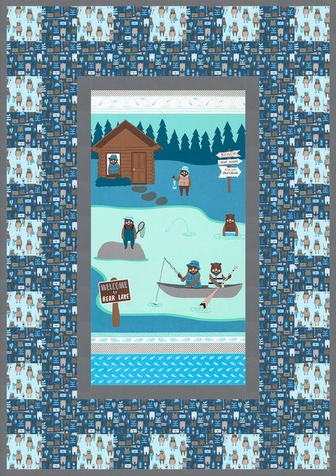 cabins and canoes-free quilt pattern 2- robert kaufman website