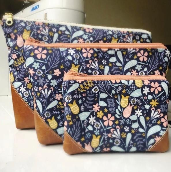 Be the Bag Blackbird fabric zip pouches