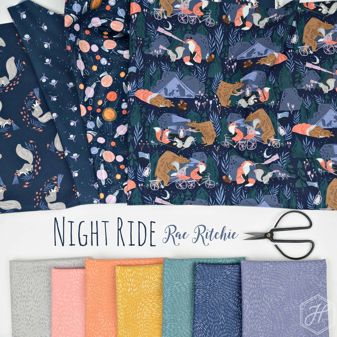 Rae Ritchie Night Ride fabric for Dear Stella at Hawthorne Supply Co