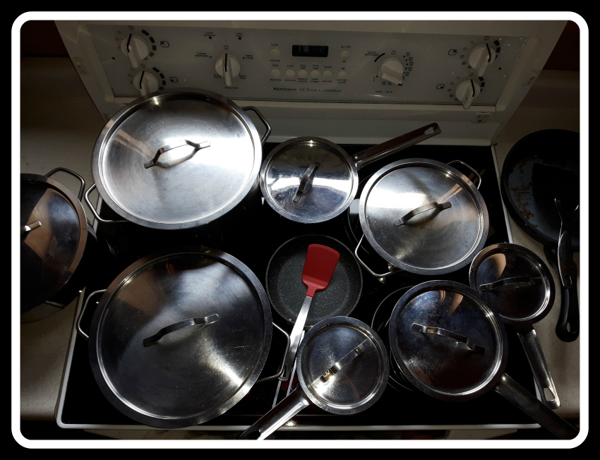 Pots on Stove-A