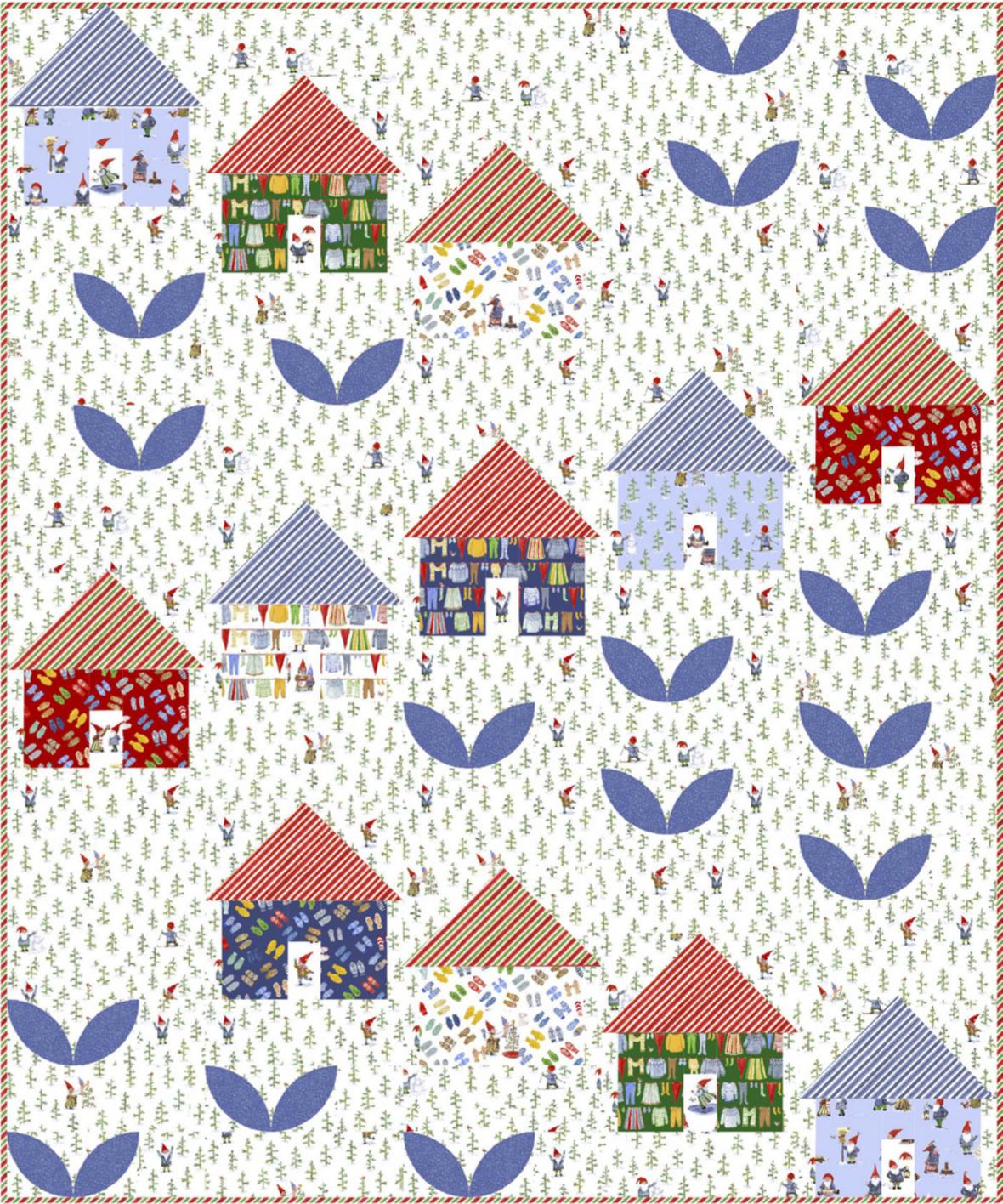 Winter VIllage free quilt pattern from Windham