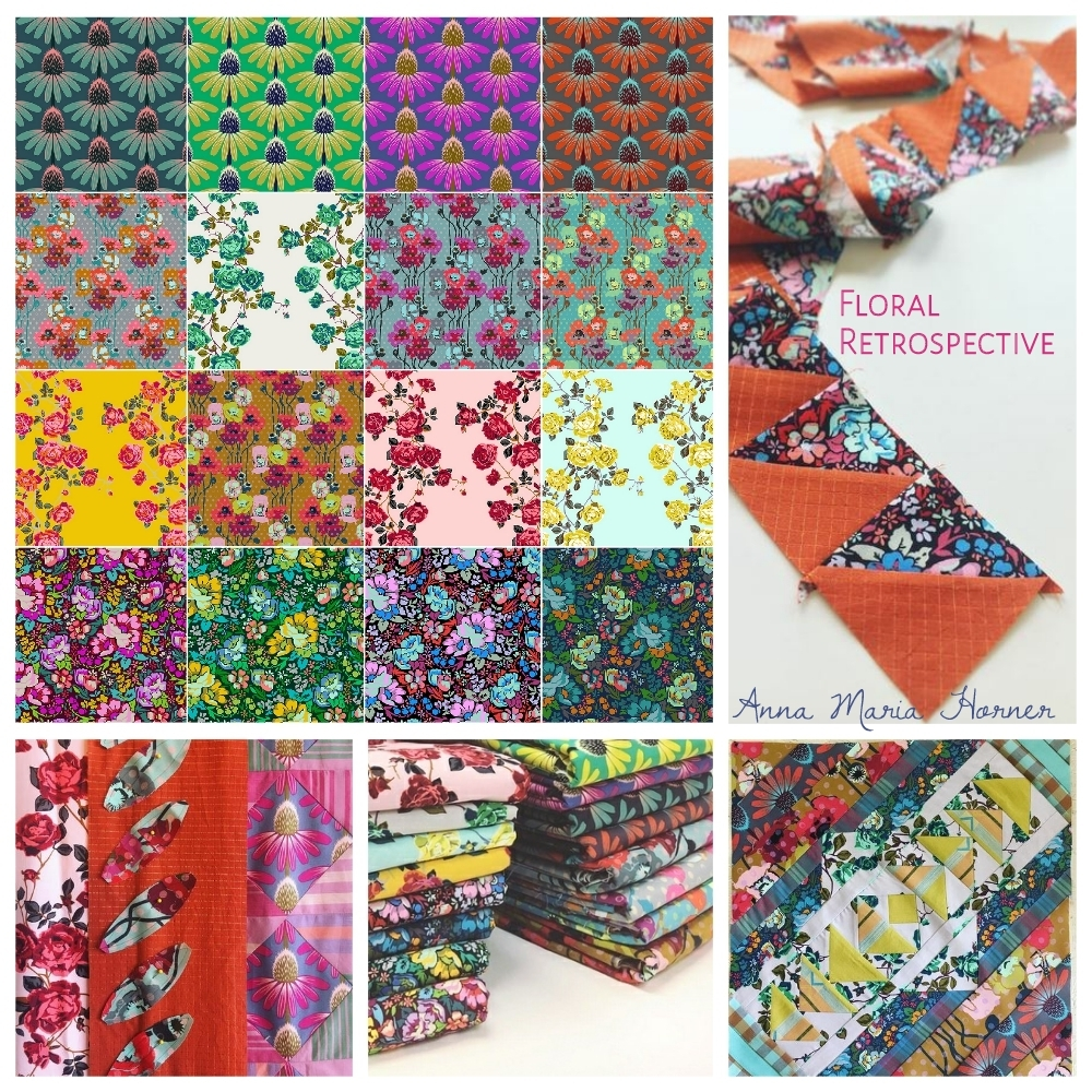Floral Retrospective Fabric poster