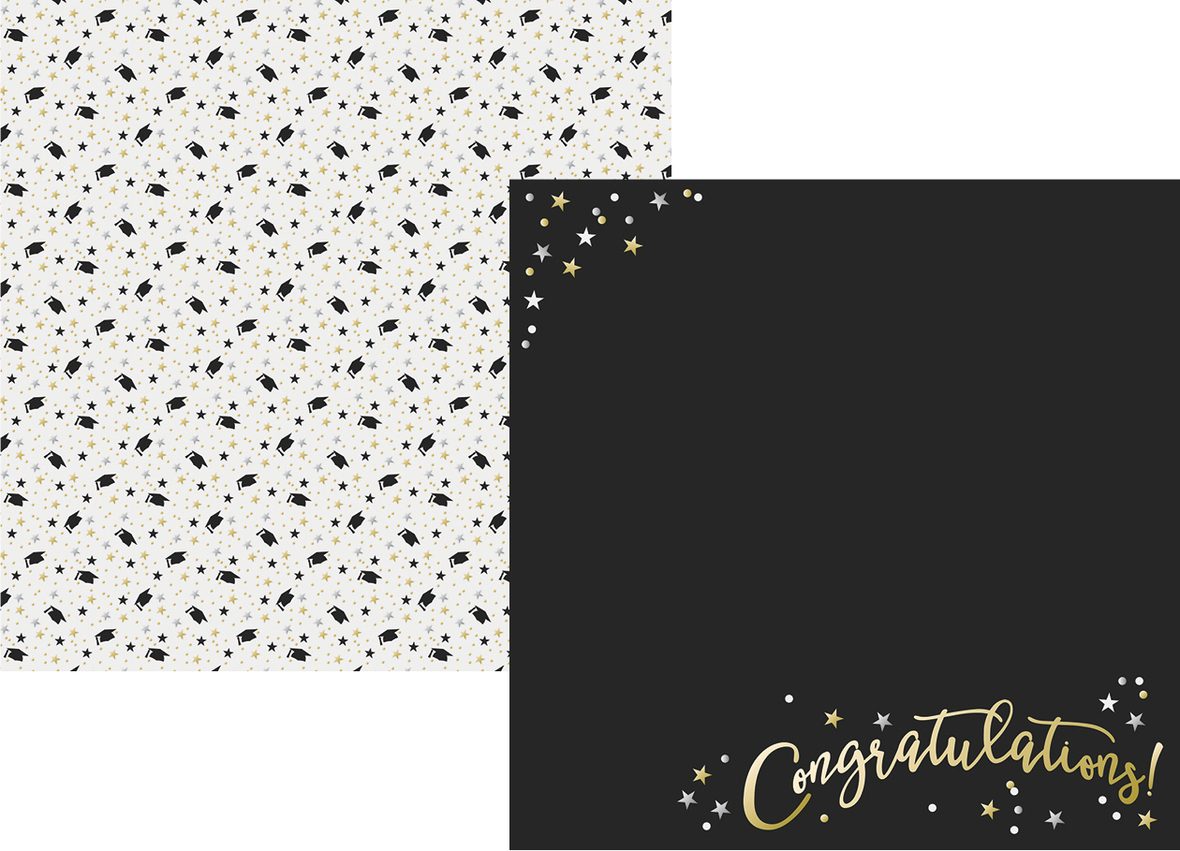 Scrapbook paper companies - Graduation Collection Graduation Day 12x12 Double Sided Scrapbook Paper By Simple Stories