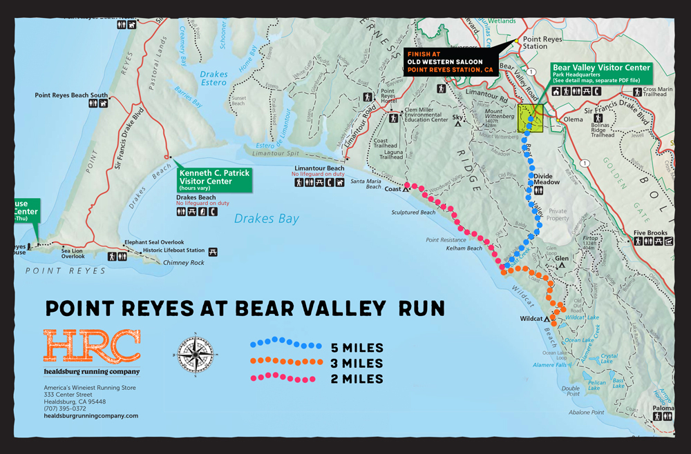 point reyes park map