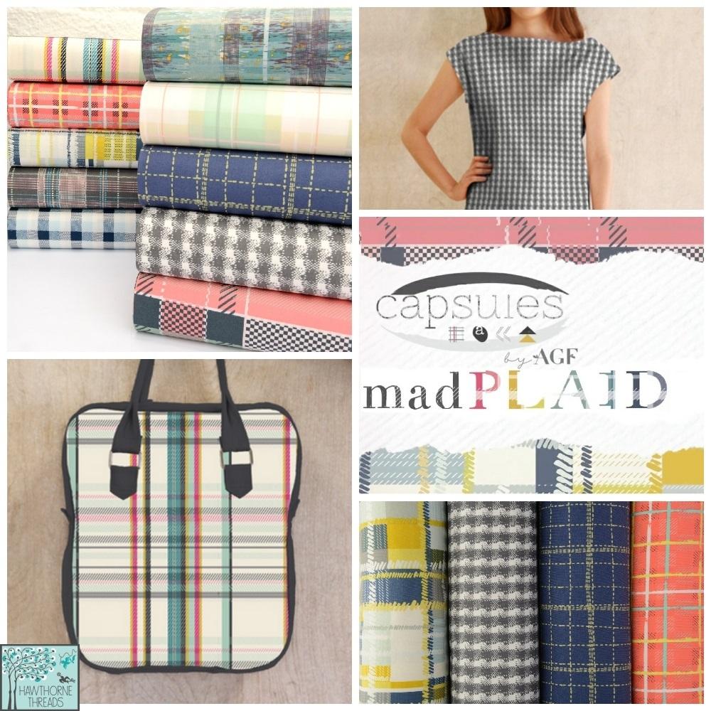 Mad Plaid Fabric Poster