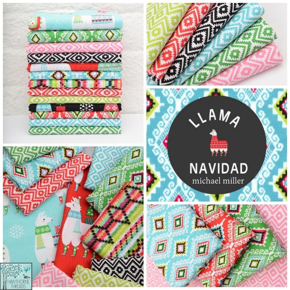 Llama Navidad Fabric Poster
