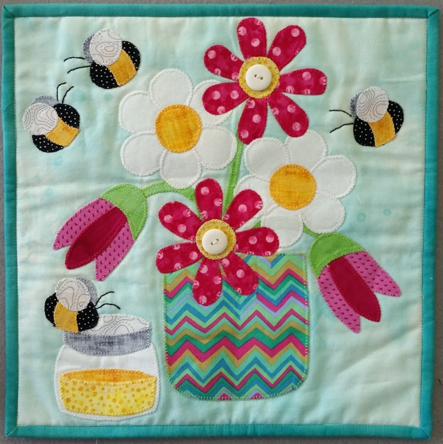 Little Quilts Squared Honey Bee June