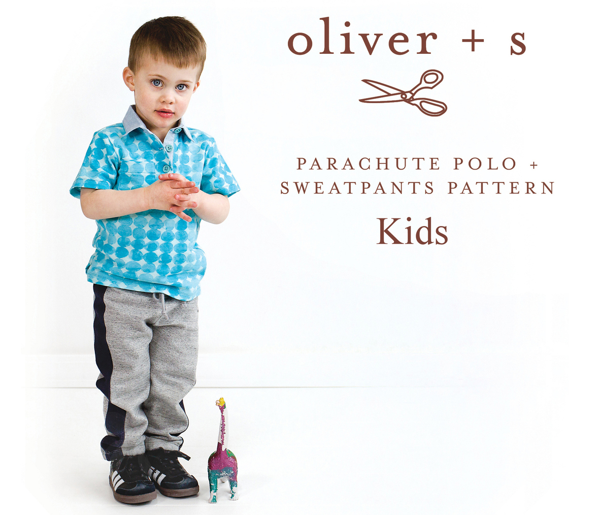 oliver and s  kids parachute polo and sweatpants sewing pattern