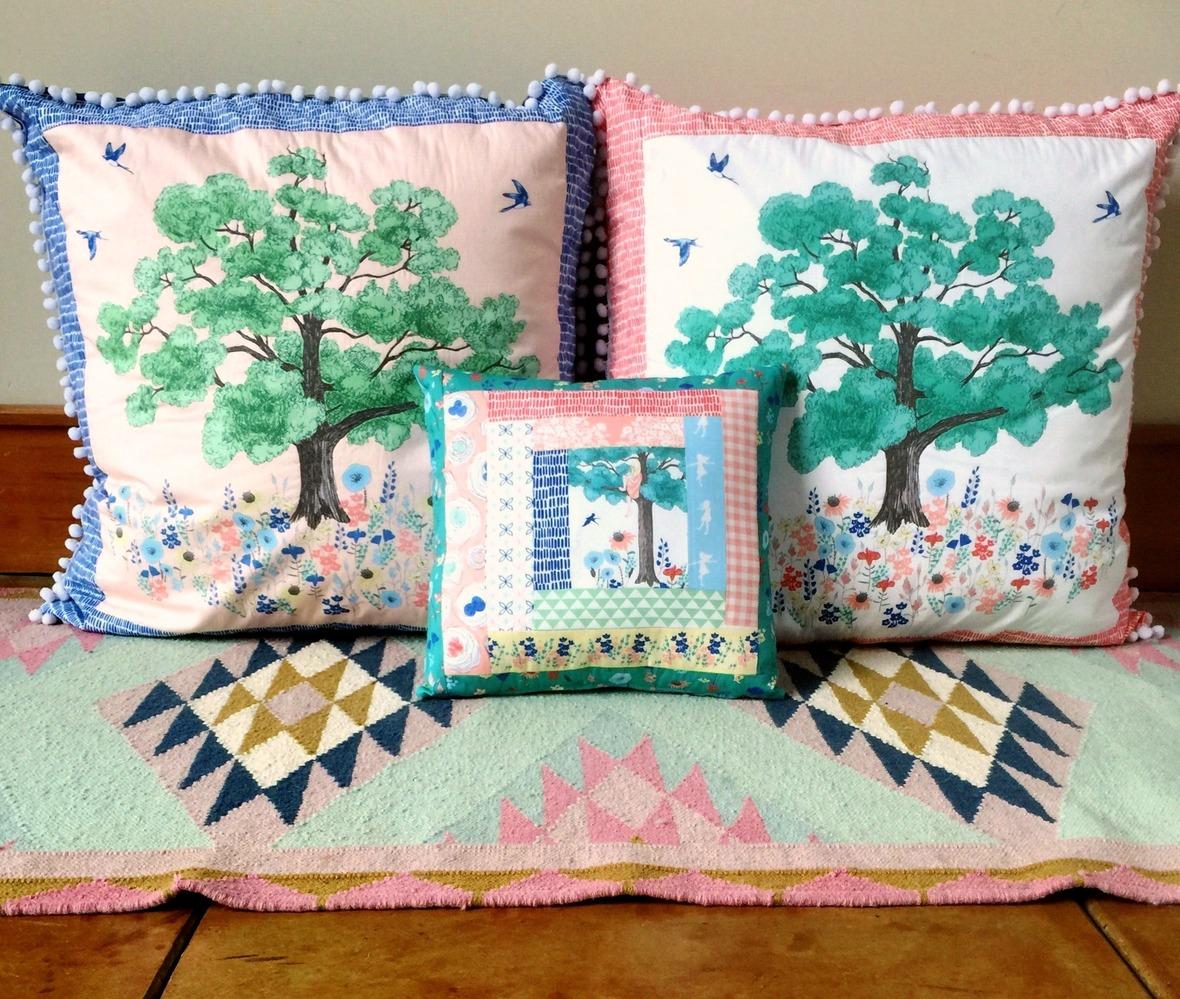 Meadowlark Fabric Pillowsb