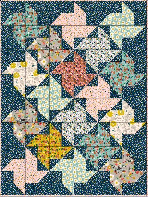 blend fabrics-free quilt pattern