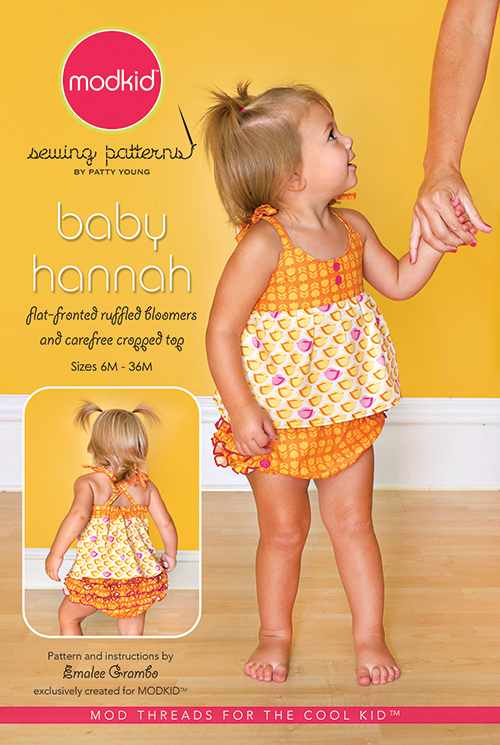 patty young baby hannah sewing pattern