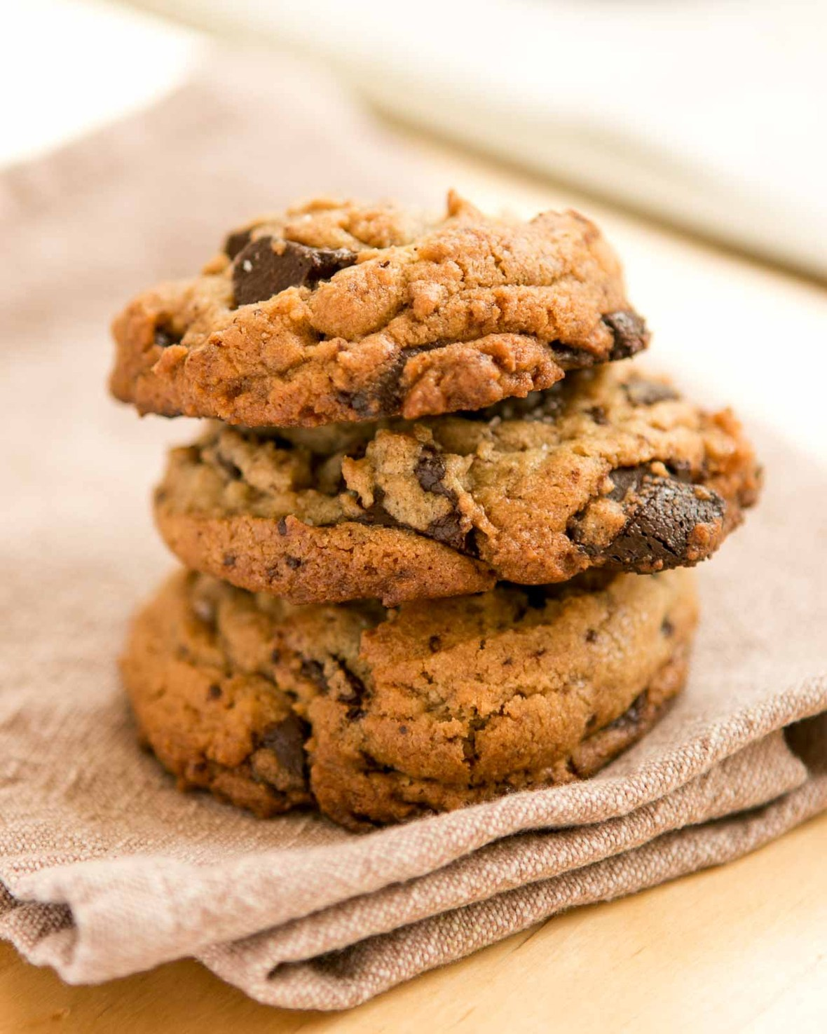 Salted Chocolate Chip Tahini cookie recipe-8