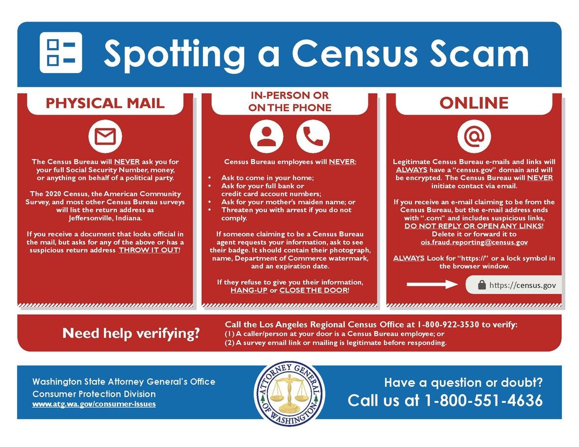 census scam flyer English