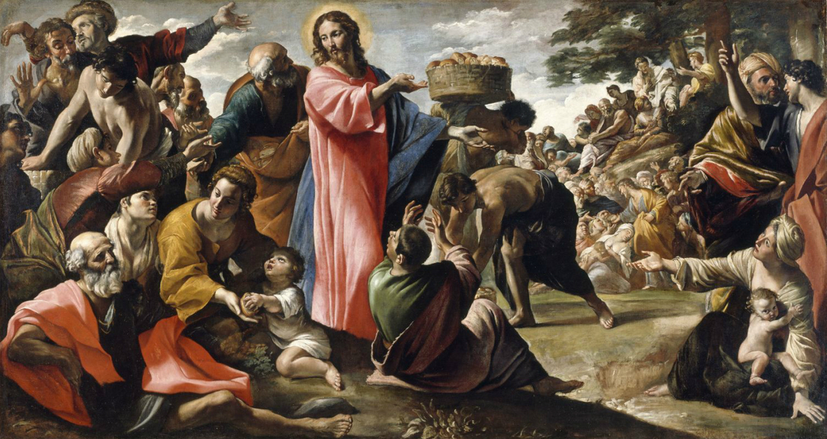 Giovanni Lanfranco - Miracle of the Bread and Fish - WGA12454